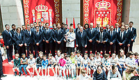 Real Madrid's and Cristina Cifuentes at Seat of Government in Madrid, May 22, 2017. Spain.<br /> (ALTERPHOTOS/BorjaB.Hojas)