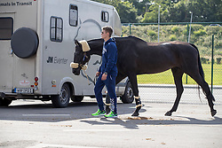 Elmo Jankari, Duchess Desiree<br /> Departure of the horses to the Rio Olympics from Liege Airport - Liege 2016<br /> © Hippo Foto - Dirk Caremans<br /> 30/07/16