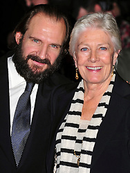 """© Licensed to London News Pictures. 16/10/2011. London, England. Ralph Fiennes and Vanessa Redgrave attend the  Premiere of """"Coriolanus"""" at the 55th British Film Festival in London  Photo credit : ALAN ROXBOROUGH/LNP"""