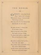 The Heron Verse from 'Birds on the wing' by Giacomelli [Hector Giacomelli (April 1, 1822 in Paris – December 1, 1904 in Menton), was a French watercolorist, engraver and illustrator, best known for his paintings of birds.] Published in London by Thomas Nelson & Sons 1878. The book contains Hand-colored plates with accompanying text in verse