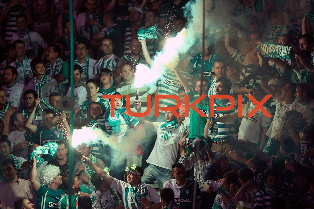 Bursaspor's supporters during their Turkish soccer super league match Bursaspor between Besiktas at Ataturk Stadium in Bursa Turkey on Sunday, 16 May 2010. Photo by TURKPIX