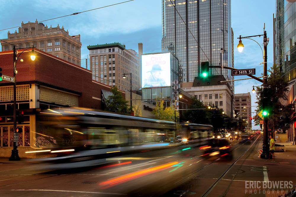 Motion Blur on Main Street in Kansas City