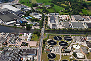 Nederland, Overijssel, Enschede, 30-06-2011; rioolwaterzuivering (rwzi) Enschede waterschap Regge en Dinkel .Sewage (STP) of the city of Enschede..luchtfoto (toeslag), aerial photo (additional fee required).copyright foto/photo Siebe Swart