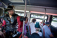 A pirate riding a bus to meet his mates in Tacoma, WA. (Photo/John Froschauer)
