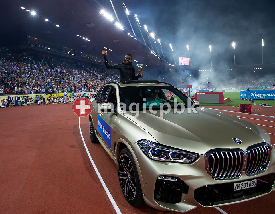 Beatrice CHEPKOECH of Kenya on her lap of honor after winning in the Women's 300m Steeplechase during the Iaaf Diamond League meeting (Weltklasse Zuerich) at the Letzigrund Stadium in Zurich, Switzerland, Thursday, Aug. 29, 2019. (Photo by Patrick B. Kraemer / MAGICPBK)