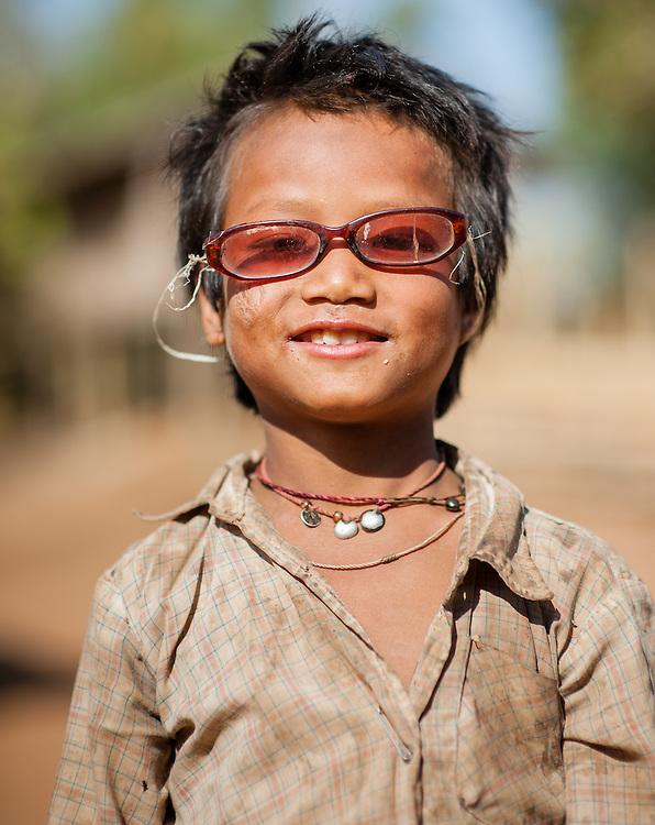 Country boy with broken sunglasses (Myanmar)