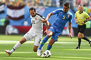Marcos Urena of Costa Rica and Casemiro of Brazil during the 2018 FIFA World Cup Russia, Group E football match between Brazil and Costa Rica on June 22, 2018 at Saint Petersburg Stadium in Saint Petersburg, Russia - Photo Thiago Bernardes / FramePhoto / ProSportsImages / DPPI