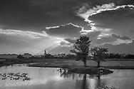 Sunset at NinhBinh-Vietnam