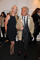 TAMARA BECKWITH and GIANCARLO GIAMMETTI at a Private View of Bruno Bisang 30 Years of Polaroids held at The Little Black Gallery, 13A Park Walk, London SW10 on 15th January 2013.