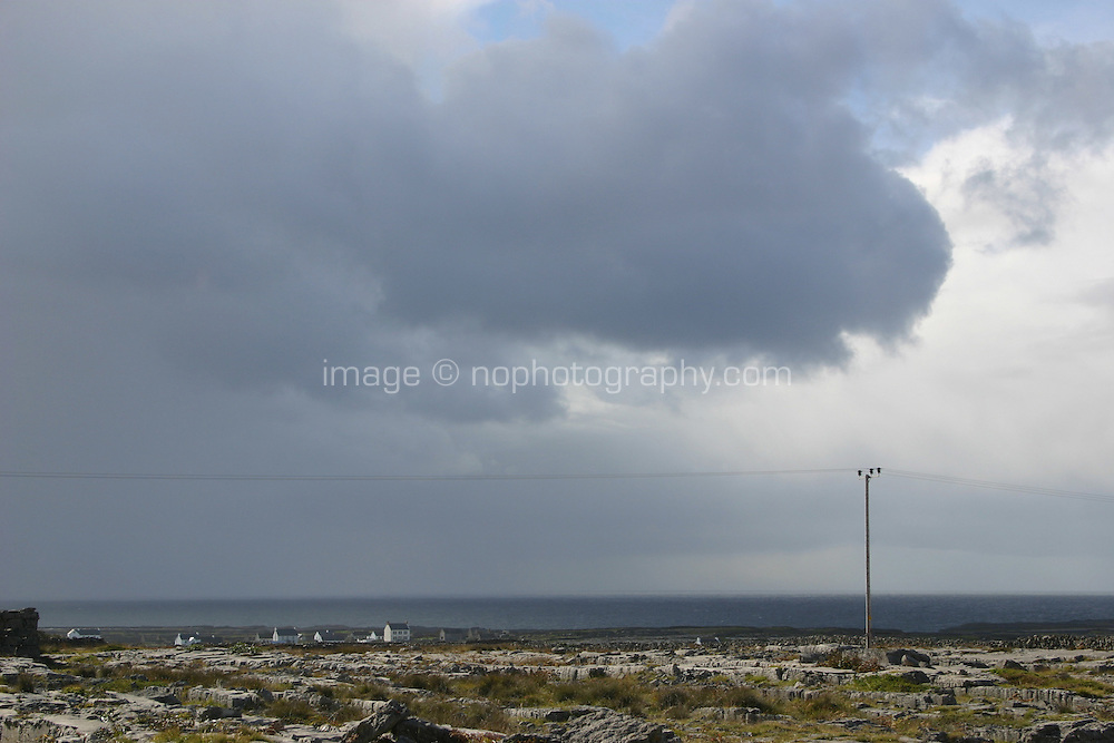 Stormy weather on Inis Mor the Aran Islands