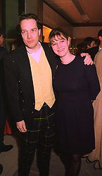 The EARL & COUNTESS OF MARCH & KINRARA he is the son and heir of the Duke of Richmond, at a party in London on 24th February 1998.MFP 101