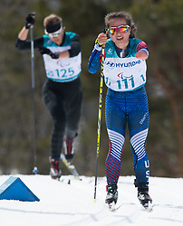 March 17, 2018 - Pyeongchang, South Korea - Grace Miller of the US during the Cross Country 7.5km standing event Saturday, March 17, 2018 at the Alpensia Biathlon Center at the Pyeongchang Winter Paralympic Games. Photo by Mark Reis (Credit Image: © Mark Reis via ZUMA Wire)