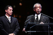 """15 November 2010- New York, NY- l to r: New York State Governor David Paterson and Rev. Al Sharpton, President, National Action Network at The National Action Network's 1st Annual Triumph Awards honoring """"Our Best"""" in the Arts, Entertainment, & Sports held at Jazz at Lincoln Center on November 15, 2010 in New York City. Photo Credit: Terrence Jennings"""