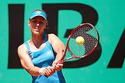 Roland Garros. Paris, France. 24 Mai 2010..La joueuse russe Elena DEMENTIEVA contre Petra MARTIC...Roland Garros. Paris, France. May 24th 2010..Russian player Elena DEMENTIEVA against Petra MARTIC...