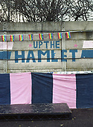 Dulwich Hamlet FC beat Eastbourne Borough 2 - 1 during their first home game at Champion Hill on 26th December 2018 in South London in the United Kingdom. The National League South team return to their home ground, Champion Hill following a 10 month eviction initiated by the clubs landlord, Meadow Residential. During the exile, local team Tooting and Mitcham United offered a groundshare at Imperial Fields.