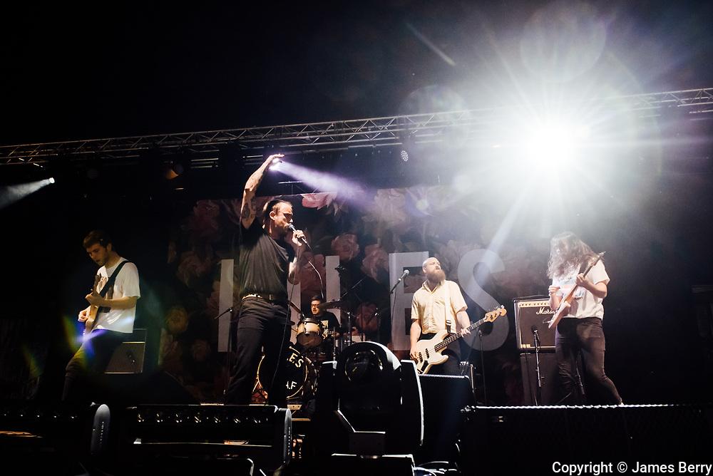 Idles perform at the On Blackheath festival, London, on Saturday 10 September 2017.