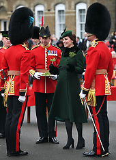 The Duke and Duchess of Cambridge attend the St Patrick's Day Parade - 17 March 2018