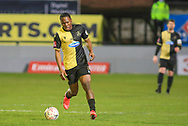 Marine defender Joshua Solomon-Davies (2) runs with the ball during the The FA Cup match between Marine and Tottenham Hotspur at Marine Travel Arena, Great Crosby, United Kingdom on 10 January 2021.