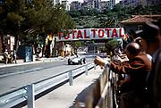 Formula One motor racing Monaco Grand Prix race 1961, Jo Bonnier, Porsche passing pits