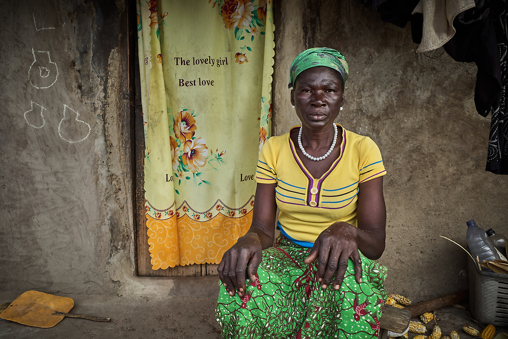 29/10/2019 / Kpatua / Ghana:<br /> Cecilia is queen mother of Kpatua and a farmer.  She farms millet, maize, rice, and soya beans during the rainy season and farms vegetables with other women in Kpatua during the dry season, thanks to the solar powered water pump donated by Oxfam.