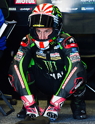 October 20, 2017 - Melbourne, Victoria, Australia - French rider Johan Zarco (#5) of Monster Yamaha Tech 3 in his garage during the first free practice session of the MotoGP class at the 2017 Australian MotoGP at Phillip Island, Australia. (Credit Image: © Theo Karanikos via ZUMA Wire)