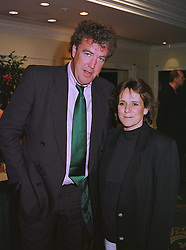 MR & MRS JEREMY CLARKSON he is the TV presenter, at a luncheon in London on 25th June 1999.MTT 14