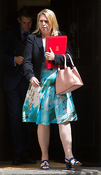 London, July 4th 2017. Secretary of State for Culture, Media and Sport Karen Bradley leaves the weekly cabinet meeting at 10 Downing Street in London.