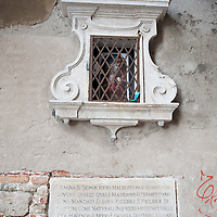 Madonne and Votive images in Venice Votive shrines in Venice for the first time in history were used as well as street light in crucial places of the streets.