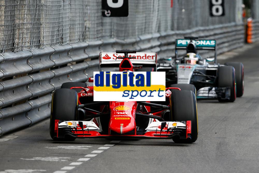 VETTEL sebastian (ger) ferrari sf15t, HAMILTON lewis (gbr) mercedes gp mgp w06 action during the 2015 Formula One World Championship, Grand Prix of Monaco from on May 24th 2015,  in Monaco. Photo Florent Gooden / DPPI