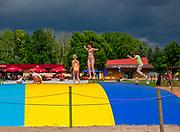 Plac zabaw na plaży w Giżycku