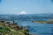 CS00816-06. Columbia River at The Dalles, Oregon. Mid 1940s.