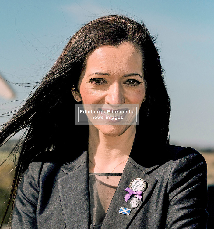 Alex Salmond Launches Alba Party Candidates, 21 April 2021<br /> <br /> The new ALBA Party launched its Central Scotland candidates at an event at the Falkirk Wheel today.<br /> <br /> Pictured: Tasmina Ahmed-Sheik, Alba Party List Candidate for Central Scotland<br /> <br /> Alex Todd | Edinburgh Elite Media