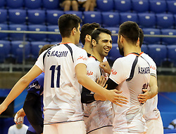 September 12, 2018 - Varna, Bulgaria - in the middle Milad Ghara (Iran), .FIVB Volleyball Men's World Championship 2018, pool D, Iran vs Puerto Rico,. Palace of Culture and Sport, Varna/Bulgaria, .the teams of Finland, Cuba, Puerto Rico, Poland, Iran and co-host Bulgaria are playing in pool D in the preliminary round. (Credit Image: © Wolfgang Fehrmann/ZUMA Wire)