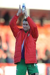 Bristol City's Luke Freeman applauds the travelling fans - Photo mandatory by-line: Dougie Allward/JMP - Mobile: 07966 386802 - 07/03/2015 - SPORT - Football - Crawley - Broadfield Stadium - Crawley Town v Bristol City - Sky Bet League One