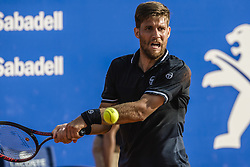 April 27, 2018 - Barcelona, Catalonia, Spain - MARTIN KLIZAN (SVK) returns the ball to Rafael Nadal (ESP) in their quarter final of the 'Barcelona Open Banc Sabadell' 2018. Nadal won 6:0, 7:5 (Credit Image: © Matthias Oesterle via ZUMA Wire)