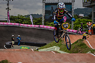 #129 (MAZO VILLADA Manuela) COL at the 2016 UCI BMX World Championships in Medellin, Colombia.