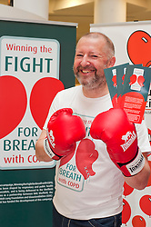 """Dr Rod Lawson Consultant in Respiratory Medicine at Sheffield Teaching Hospitals helps with the  launch of the """"Winning The Fight For Breath  with COPD Campaign"""" in Meadowhall Shopping Centre Sheffield on Saturday 18th February 2012..www.pauldaviddrabble.co.uk..18th February 2012 -  Image © Paul David Drabble"""