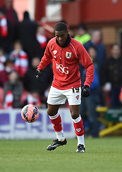 Bristol City's Kieran Agard warms up before the FA Cup fourth round game between Bristol City and West Ham United on 25 January 2015 in Bristol, England - Photo mandatory by-line: Paul Knight/JMP - Mobile: 07966 386802 - 25/01/2015 - SPORT - Football - Bristol - Ashton Gate - Bristol City v West Ham United - FA Cup fourth round