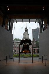 Liberty Bell and Independence Hall..Philadelphia, Pennsylvania, PA USA.  Photo copyright Lee Foster, 510-549-2202, lee@fostertravel.com, www.fostertravel.com.  Photo 258-30776