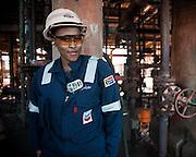 Caltex Refinery female technician
