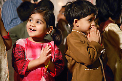 Portrait of boy and girl at Diwali Celebrations,