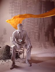 art sculpture businessman seated computer CD design CONCEPT STOCK PHOTOS CONCEPT STOCK PHOTOS