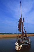 AREKG8 Sailing barge Cygnet River Alde Snape Suffolk England