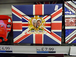 © under license to London News Pictures.  .William and Kate souvenirs ahead of the Royal Wedding in April 2011..Photo Frame of the Royal Couple..Photo credit should read Craig Shepheard / London News Pictures