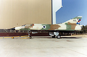 Israeli Air Force Dassault Mirage IIICJ fighter plane on the ground - Archival Image ..