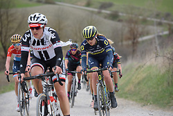 Gracie Elvin (Orica AIS) at Strade Bianche - Elite Women. A 127 km road race on March 4th 2017, starting and finishing in Siena, Italy. (Photo by Sean Robinson/Velofocus)