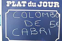 France - Département d'Outre mer de la Guadeloupe (DOM) - Les Saintes - Terre de Haut - Enseigne de restaurant