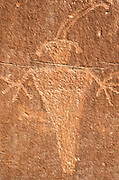 Fremont Indian petroglyph along the Fremont River, Capitol Reef National Park, Utah USA
