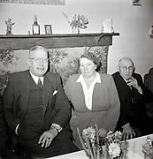 elderly couple celebration 1950s Holland