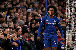 Chelsea's Willian in action during the match